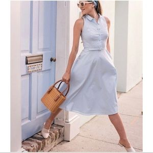 NWT Gal Meets Glam Cotton Belted Halter Shirtdress